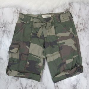 Abercrombie and Fitch Women's Camo Cargo Shorts